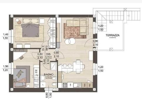 Arredare soggiorno 30 mq trattamento marmo cucina - Cucina e soggiorno in 30 mq ...