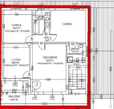 Trilocali oltre for 1 piano di appartamento di garage per auto